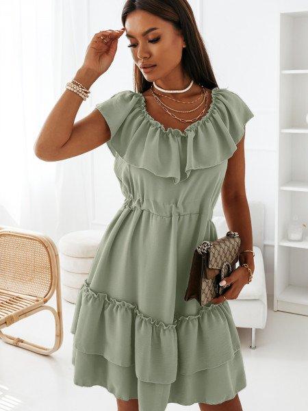 Zwiewna sukienka z...