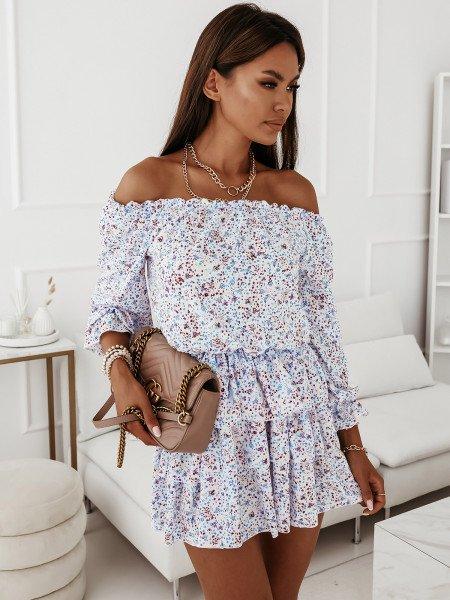 Sukienka hiszpanka w kwiaty - JUANITA - wzór 18