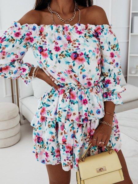 Sukienka hiszpanka w kwiaty - JUANITA - wzór 19