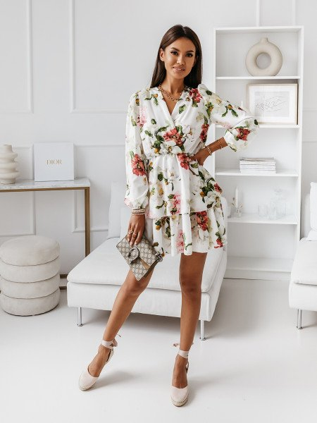 Rozkloszowana sukienka w print BONITA - wzór 45