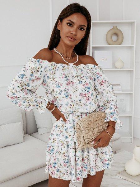 Sukienka hiszpanka w kwiaty - JUANITA - wzór 25