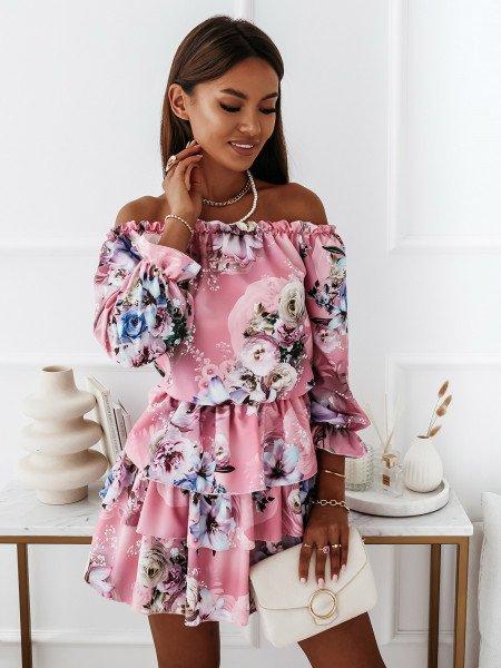 Sukienka hiszpanka w kwiaty - JUANITA - wzór 23