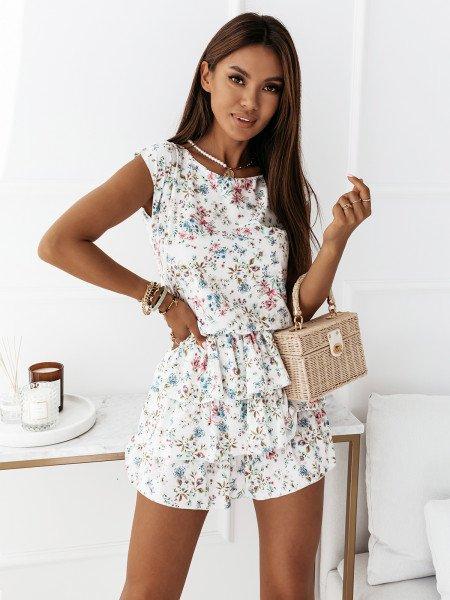 Sukienka mini z falbankami - ATTANI - wzór 2