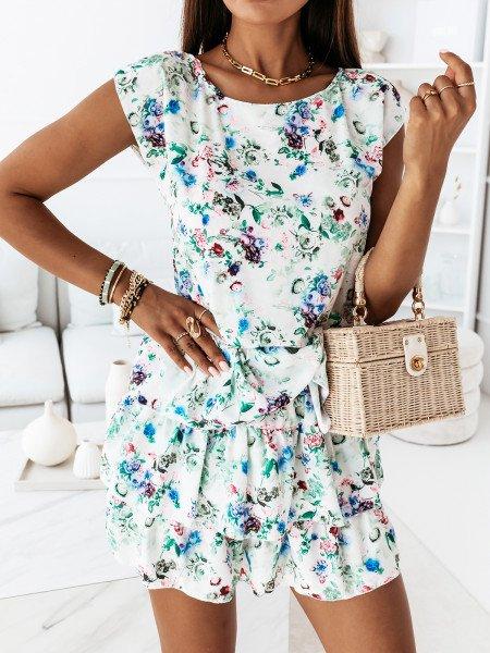 Sukienka mini z falbankami - ATTANI - wzór 3