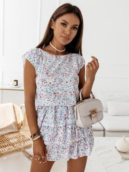 Sukienka mini z falbankami - ATTANI - wzór 6
