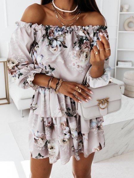 Sukienka hiszpanka w kwiaty - JUANITA - wzór 26