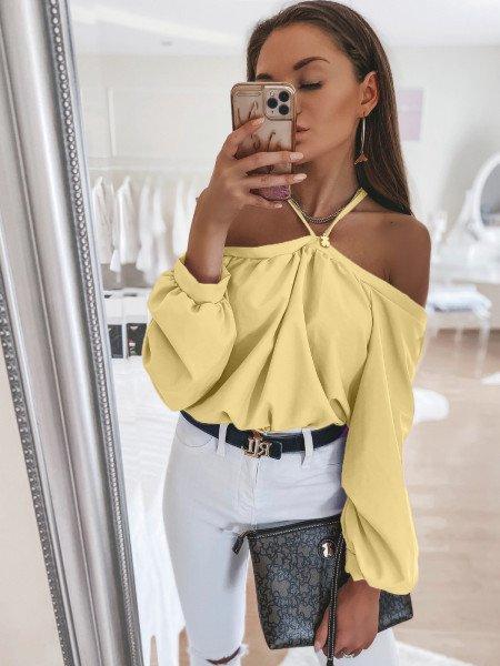 Bluzka oversize FRANCE - cytrynowa