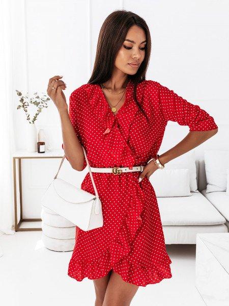 Retro sukienka w grochy NOELLE - wzór 2
