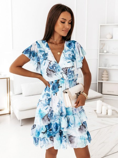 Sukienka z przekładanym dekoltem - SOFIA - wzór 1