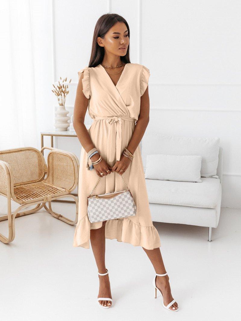 Asymetryczna sukienka z przedłużanym...