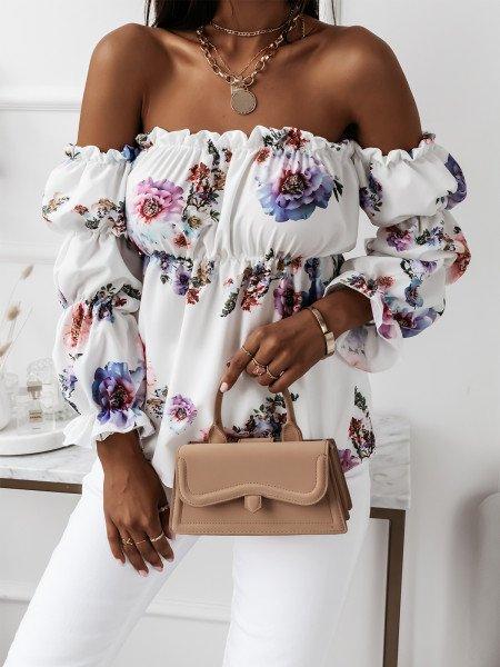 Piękna bluzka hiszpanka z...