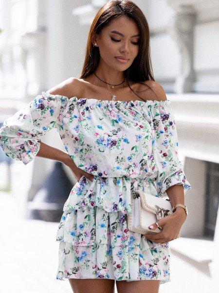 Sukienka hiszpanka w kwiaty - JUANITA - wzór 27