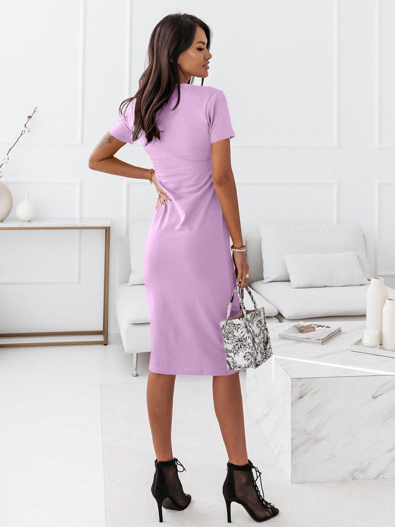 Dopasowana sukienka midi NEVES - liliowy