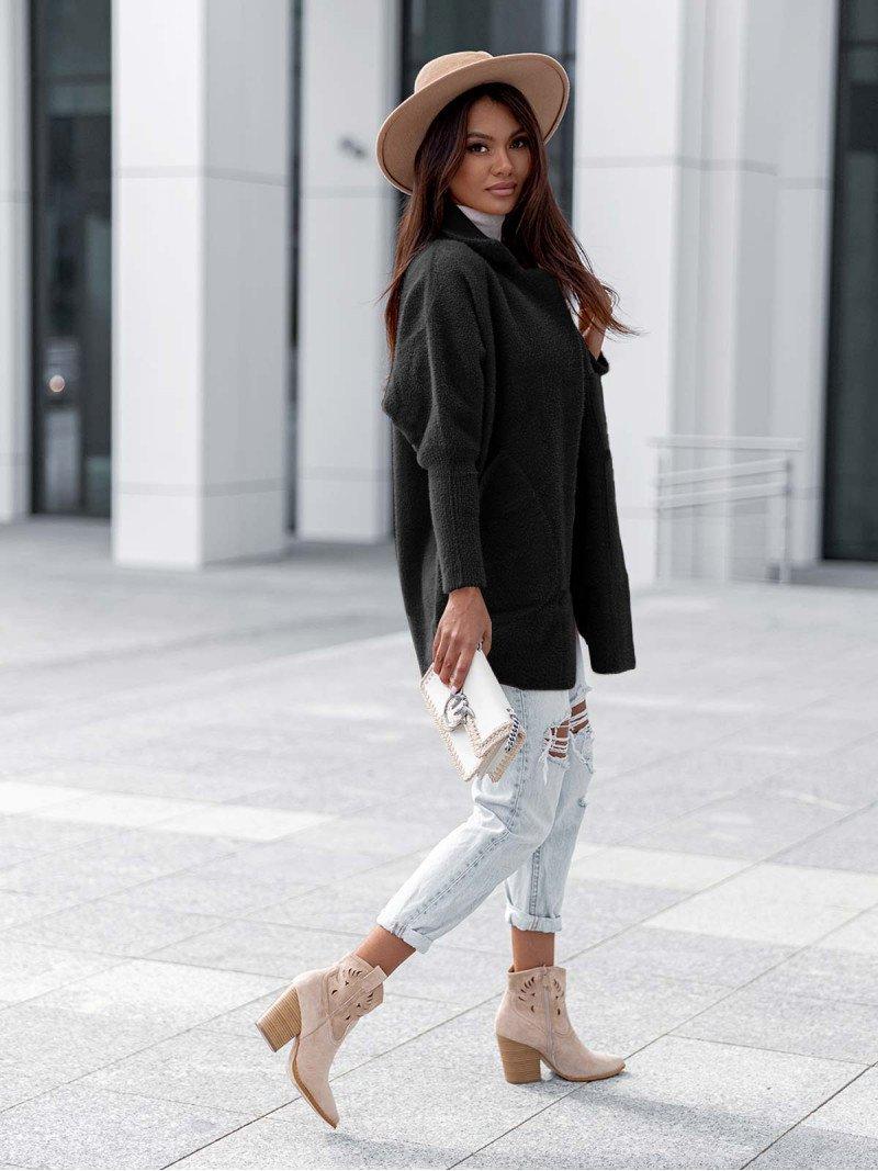Oversizowy płaszcz alpaka - Lani -...