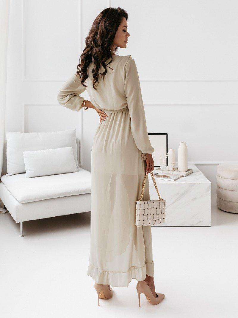 Sukienka maxi z falbanami - CAREN -...