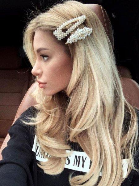 Spinka do włosów z perełkami