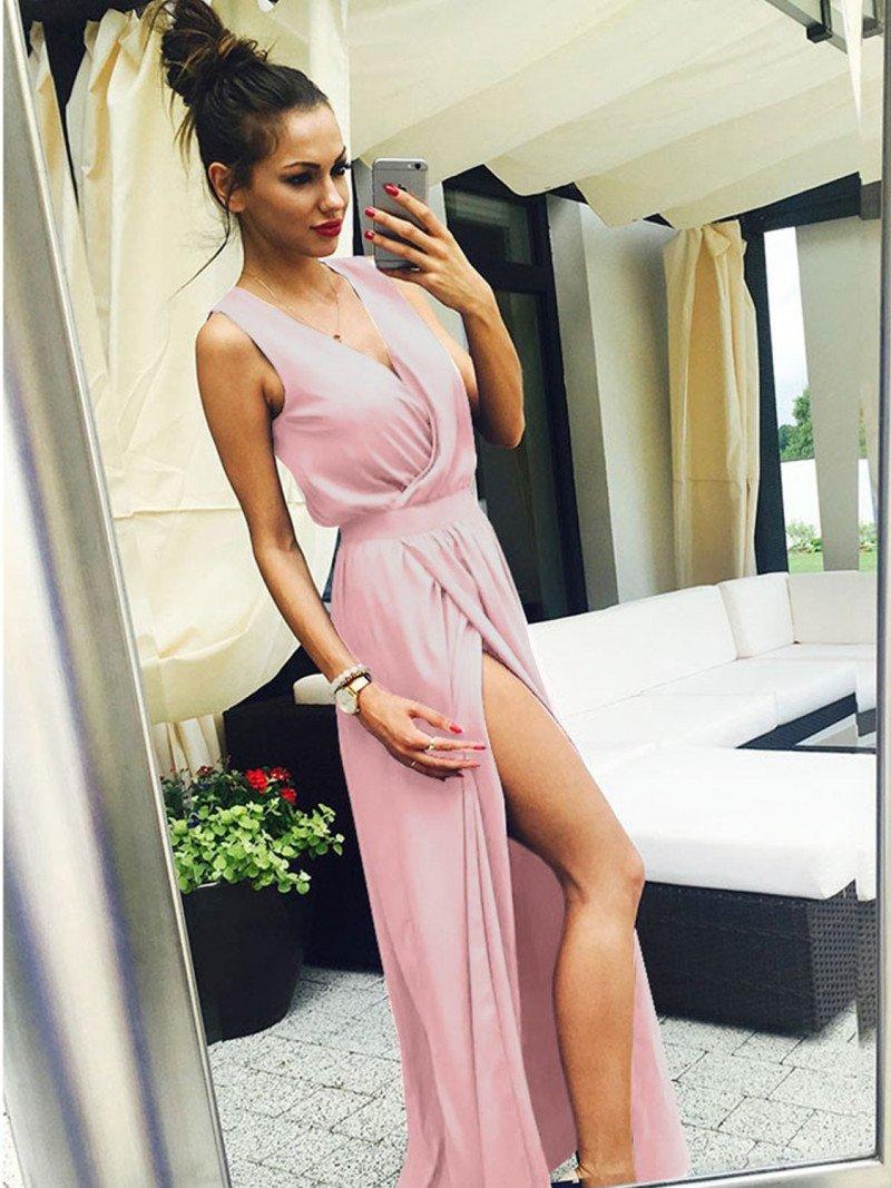 Maxi grecka sukienka kopertowa PATI -...