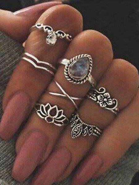 Zestaw 7 sztuk pierścionków...