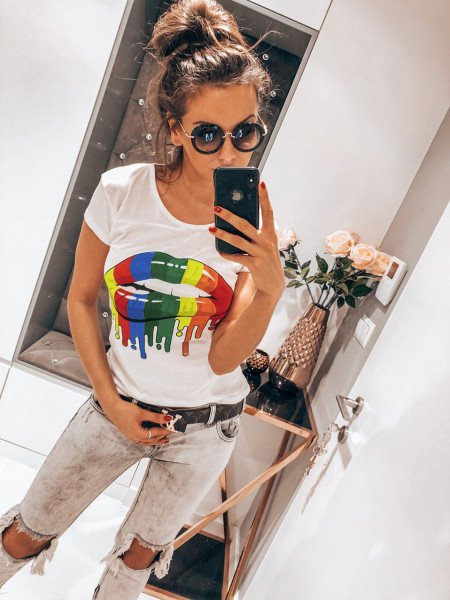 T-shirt RAINBOW LIPS - wzór 1