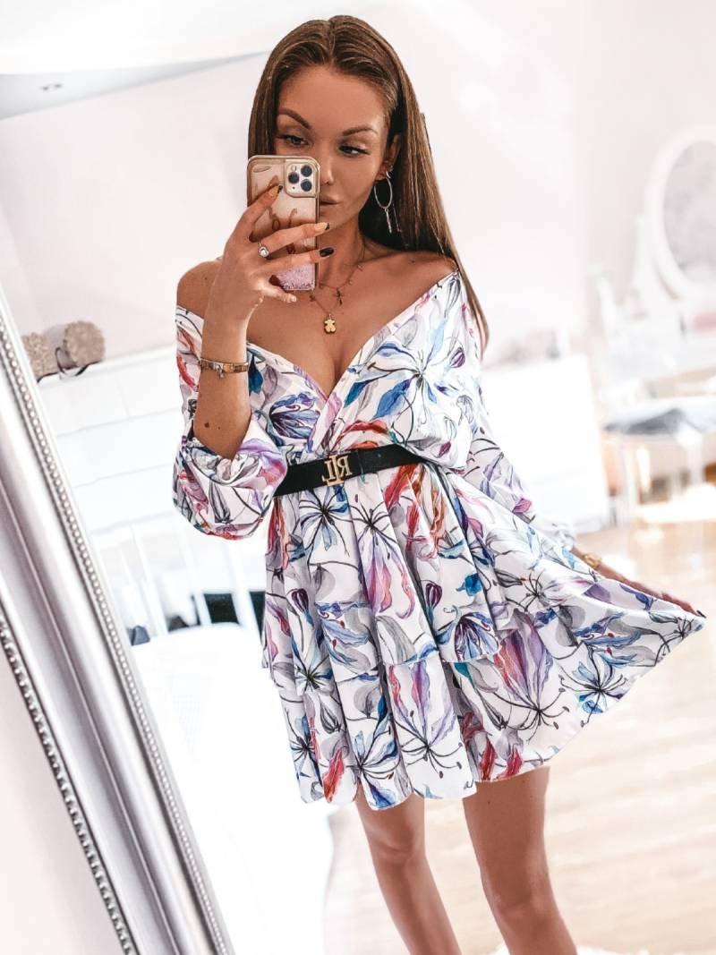 Rozkloszowana sukienka w print BONITA...