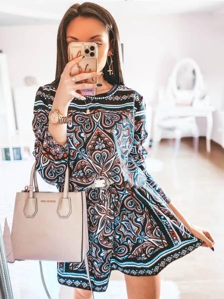Rozkloszowana sukienka w stylu boho AMINA