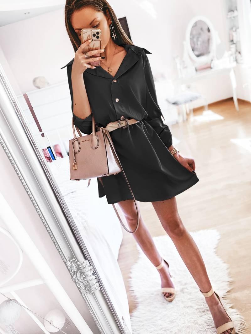 Sukienka mini szmizjerka VALENTIA -...