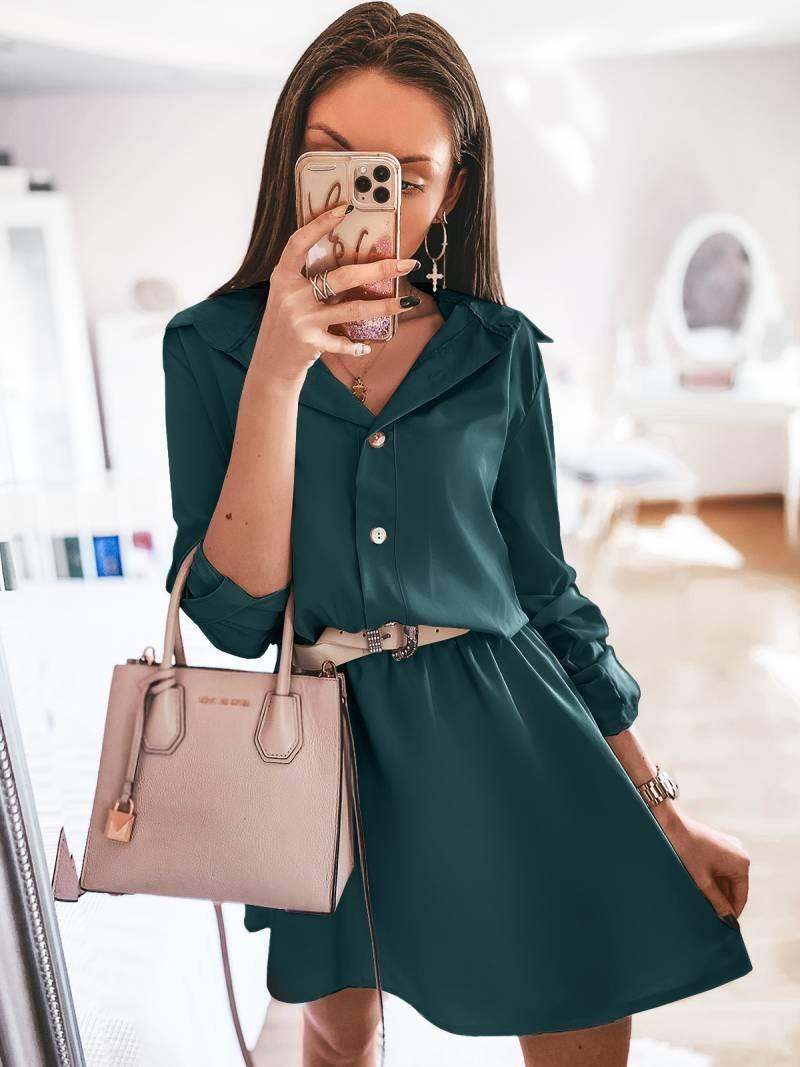 Sukienka mini szmizjerka - VALENTIA -...