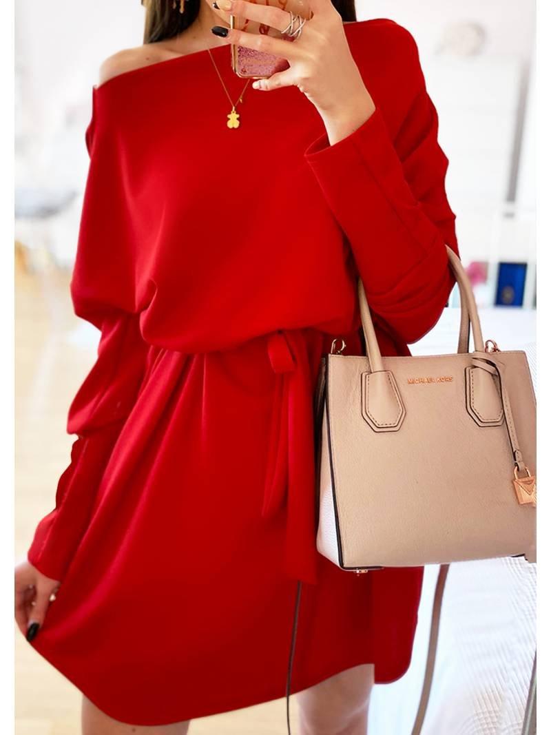 Sukienka oversize z paskiem ALISSA -...