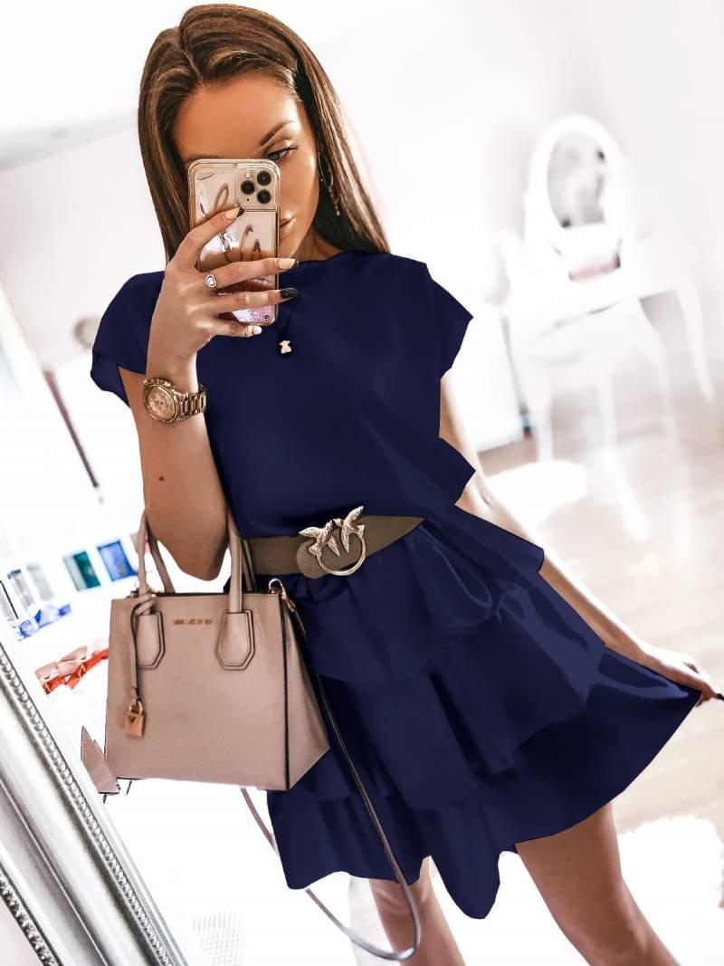 Mini sukienka z falbankami MARSILIA -...
