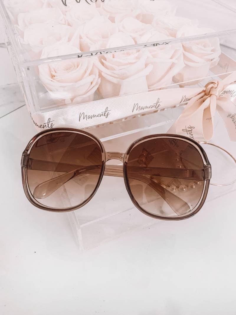 Okulary przeciwsłoneczne fashion - brąz