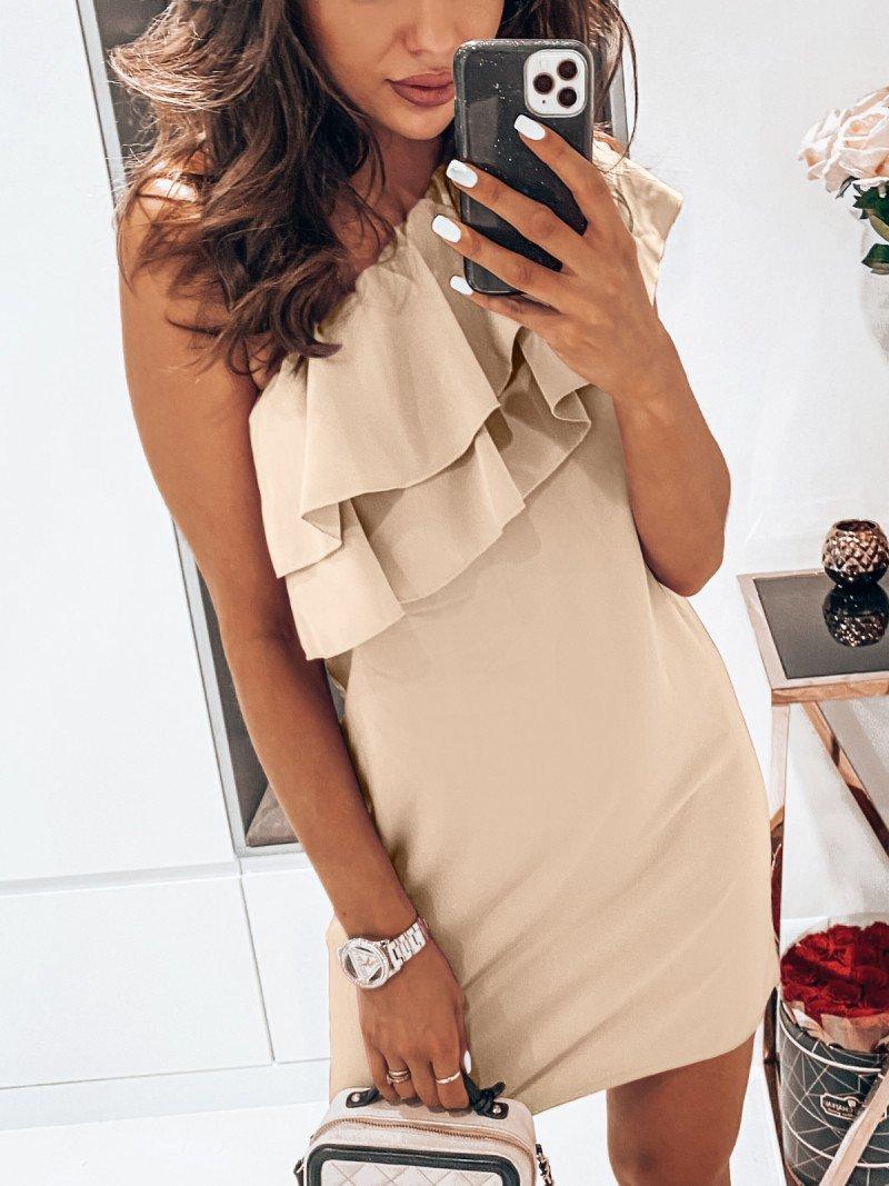 Mini sukienka na jedno ramię LAURELLA...