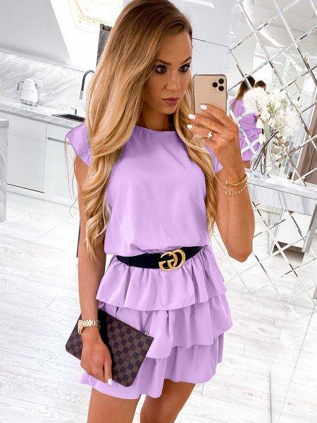 Mini sukienka z falbankami CLEO - lila