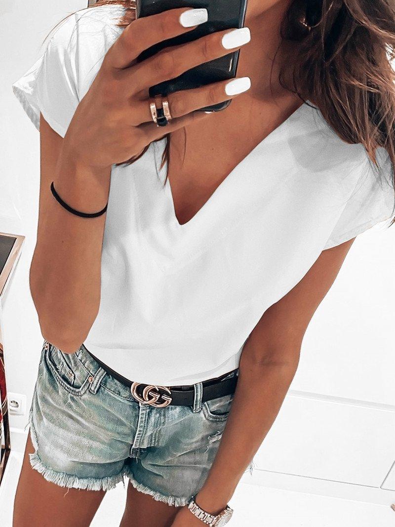 Bluzka na krótki rękaw NORMA - biel