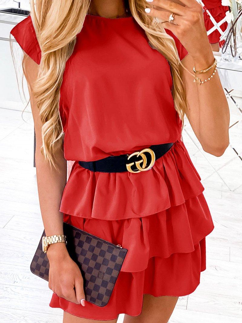 Mini sukienka z falbankami CLEO -...
