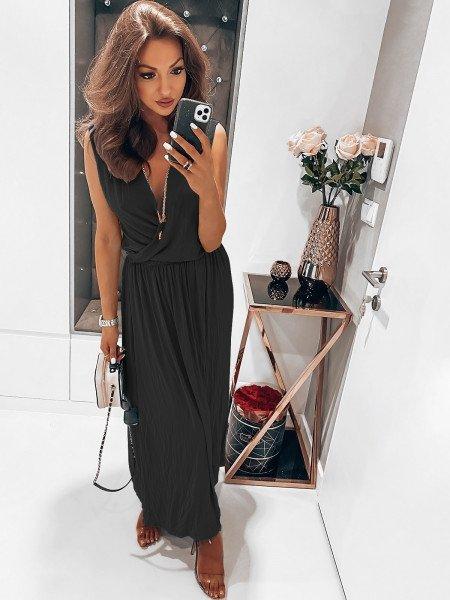 Kobieca maxi sukienka EMMY - czerń