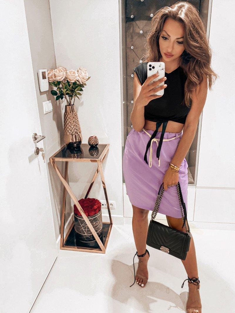 Dresowa mini spódnica TRACY - lila