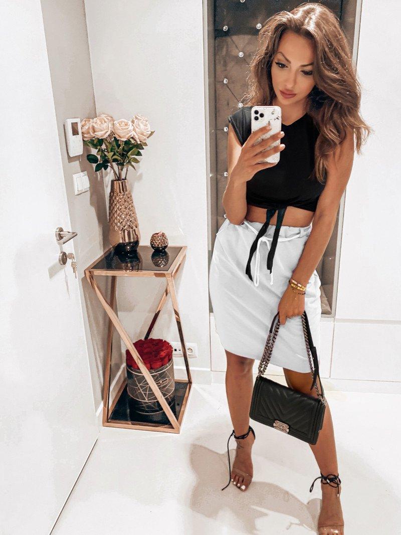 Dresowa mini spódnica TRACY - biel
