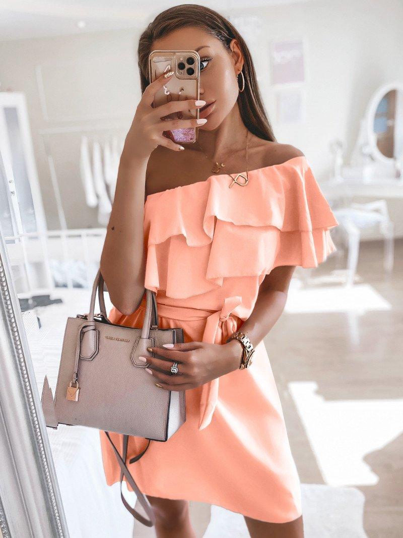 Mini sukienka na jedno ramię LIVIA-...
