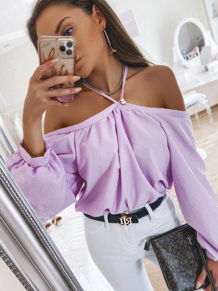 Bluzka oversize FRANCE - lila