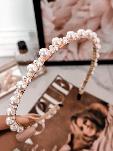 Delikatna opaska z perłami