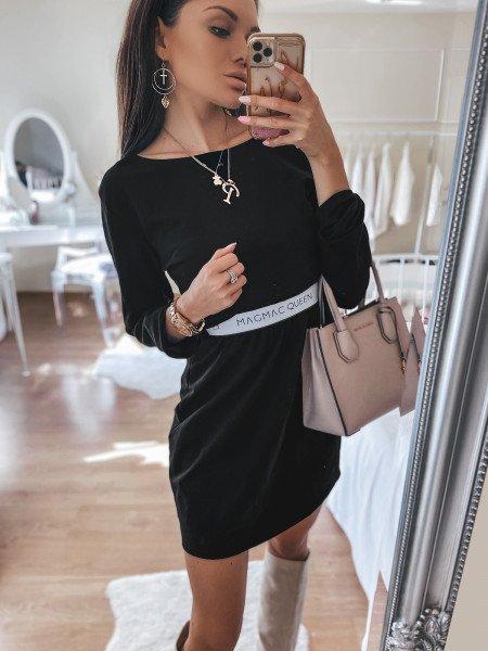 Sukienka dresowa z gumką w...