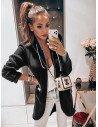 Dresowa bluza kardigan na zamek ELISA - czarna