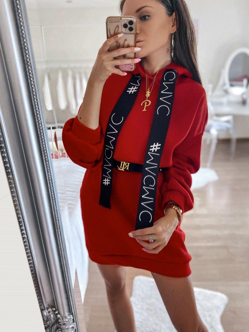 Dresowa sukienka z kieszenią ALVES -...