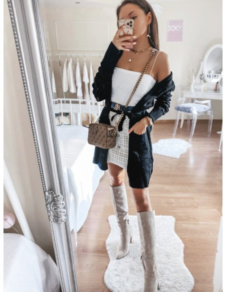 Sweterkowy kardigan NAOMI - czarny
