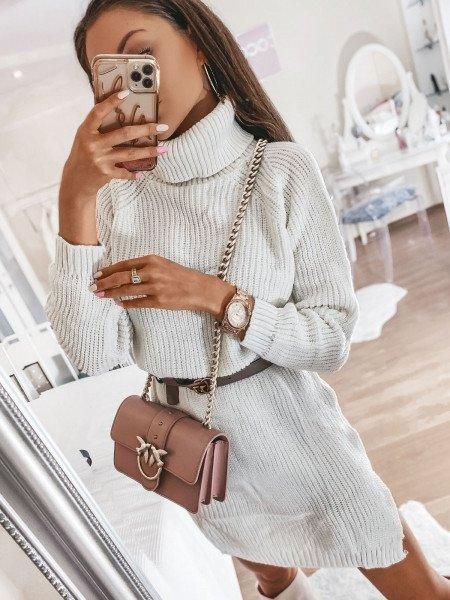 Sweterkowa sukienka tunika...