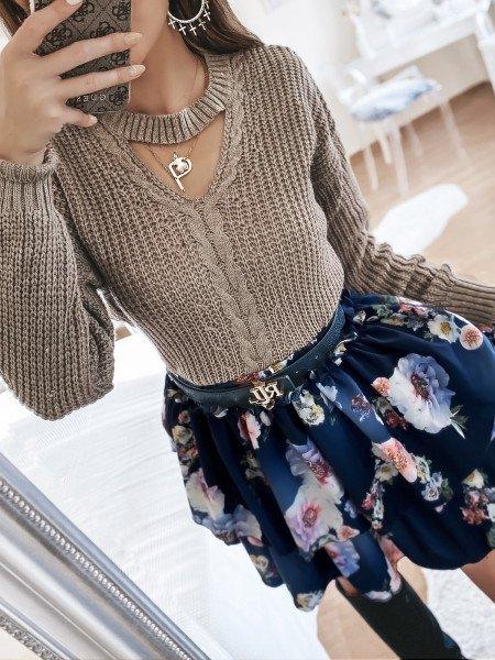 Kobieca mini spódnica z falbaną MARCIE - wzór 26