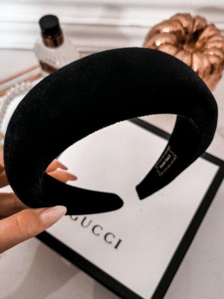Opaska turban PUFF - czarna