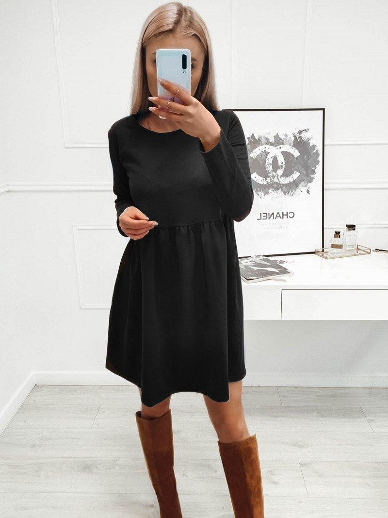 Rozkloszowana sukienka MANOLA - czarny