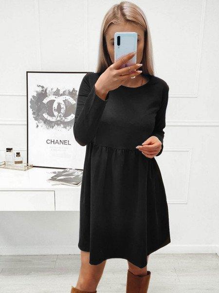Rozkloszowana sukienka MANOLA - czerń