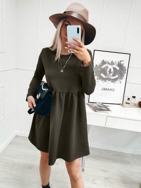 Rozkloszowana sukienka MANOLA - khaki
